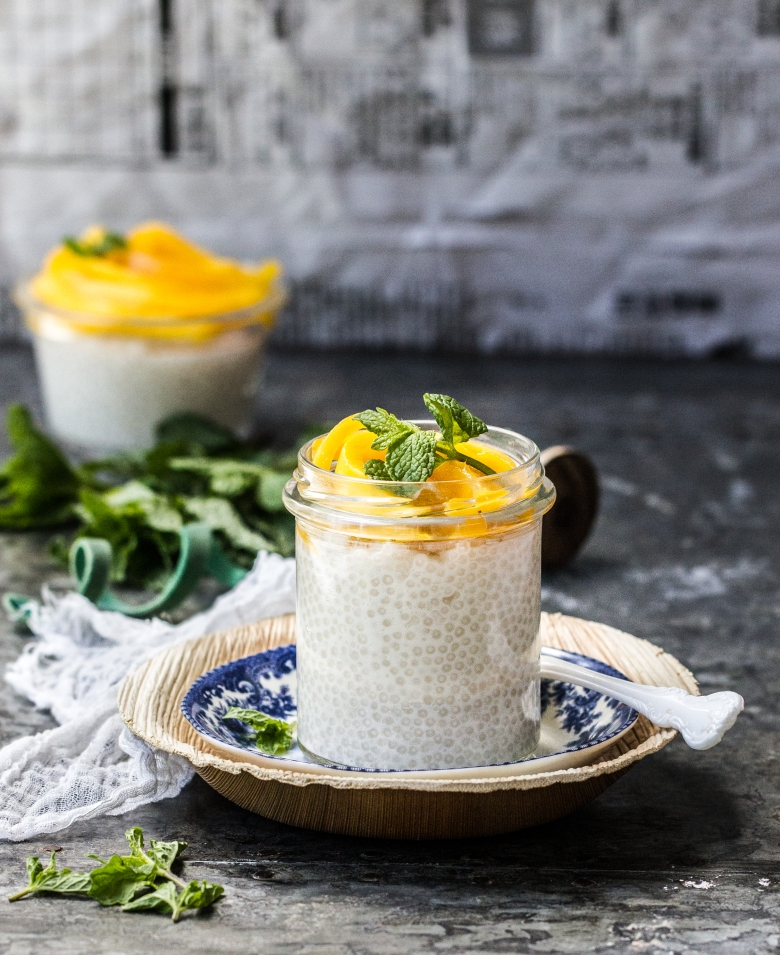 Tapioca Pudding with Mango 1